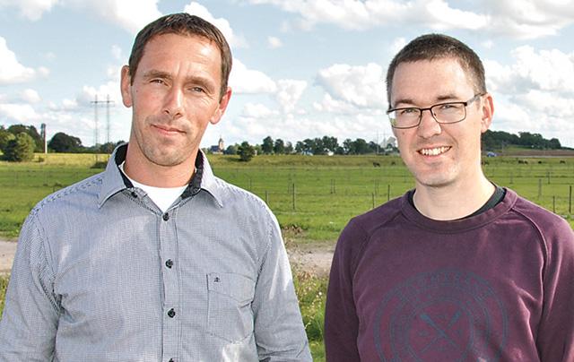 Torbjörn Elofson, distriktschef Holmen Skog, och Peter Roland, biobränsleansvarig.