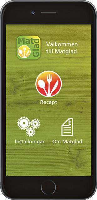 Appen visar steg för steg hur man gör alla delar av måltiden. Finns för kostnadsfri nedladdning till både Iphone och Android.