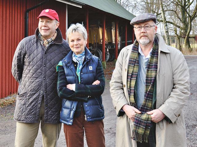Axel Lagerfelt, Tolefors gård, landshövding Elisabeth Nilsson och regionråd Göran Gunnarsson (C) vid presentationen av den regionala livsmedelstrategin på Tolefors gård
