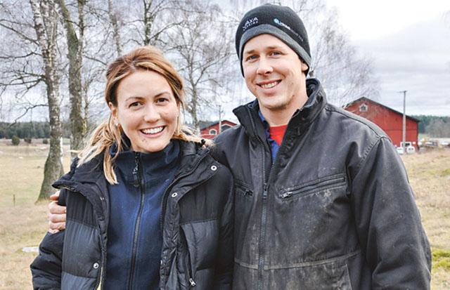 Tilda Karlsson och Magnus Sundström driver Öjeby gård sedan sommaren 2014.