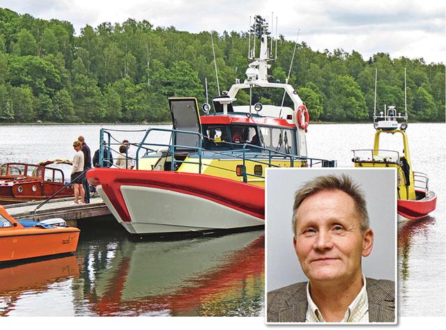 Carl-Gustaf Hamilton, skärgårdssamordnare är bekymrad över problemet med mikroplast i havsmiljön.