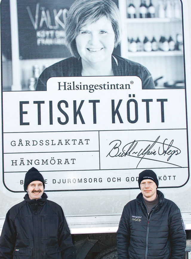 Leif Franzén, Ljungebo, bedriver nötdjursproduktion med sin bror Kenneth. Nu ska de prova Hälsingestintans mobila slakteri.