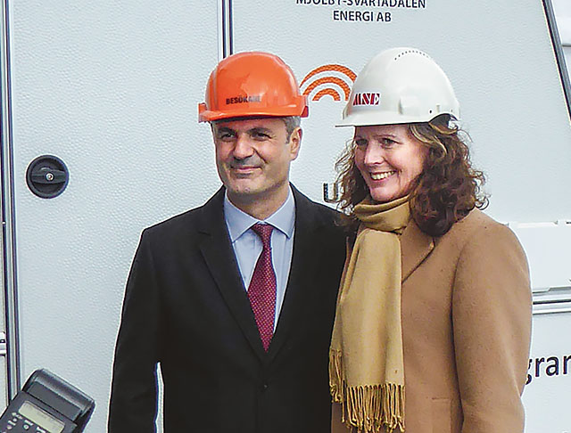 Ibrahim Baylan tillsammans med Lena Svensk, vd för MSE.