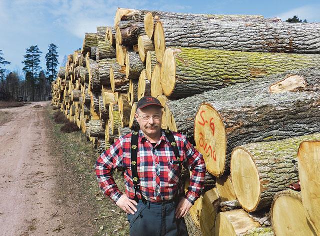 Gunnar Arvidsson, driftsansvarig på sågen Almo Hardwood i Österbymo