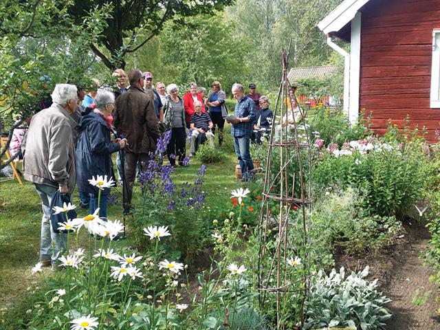 Stefan Gripe berä? ttar om Karlslunds historia. Många vackra gamla växter trrivs vid torpet.