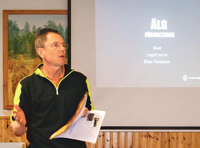 Per Karlsson, Trehörna, är drivande i Hola vedens älgförvaltningsgrupp som arbetar för en kvalitativt bättre älgstam. Han är också ordförande i Lysings älgskötselområde.