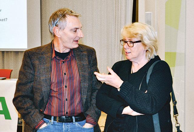 Lars Bärring, forskare, SMHI Rossby Centre och Södras ordförande, Lena Ek.