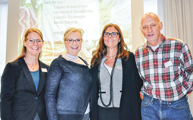 Projektgruppen Drivbänk: Camilla Oscarsson, Christina Enudd Nordström, Louise Ridderström och Bertil Tallving.